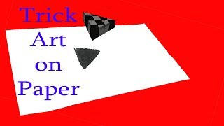 #How to Draw 3D  Art||floating triangle||