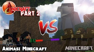 ANICRAFT VS MONYET (Perebutan Tongkat Legend) | Animasi 4brother Filler AniCraft Part 2 Minecraft
