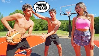 1v1 Basketball Against Twin Brother!