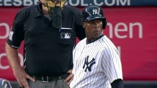 TB@NYY: Soriano steps to the plate at Yankee Stadium