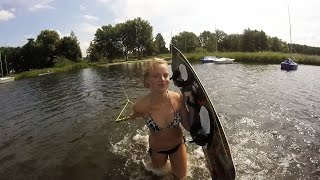 Wakeboard  backyard session 10hp homemade winch