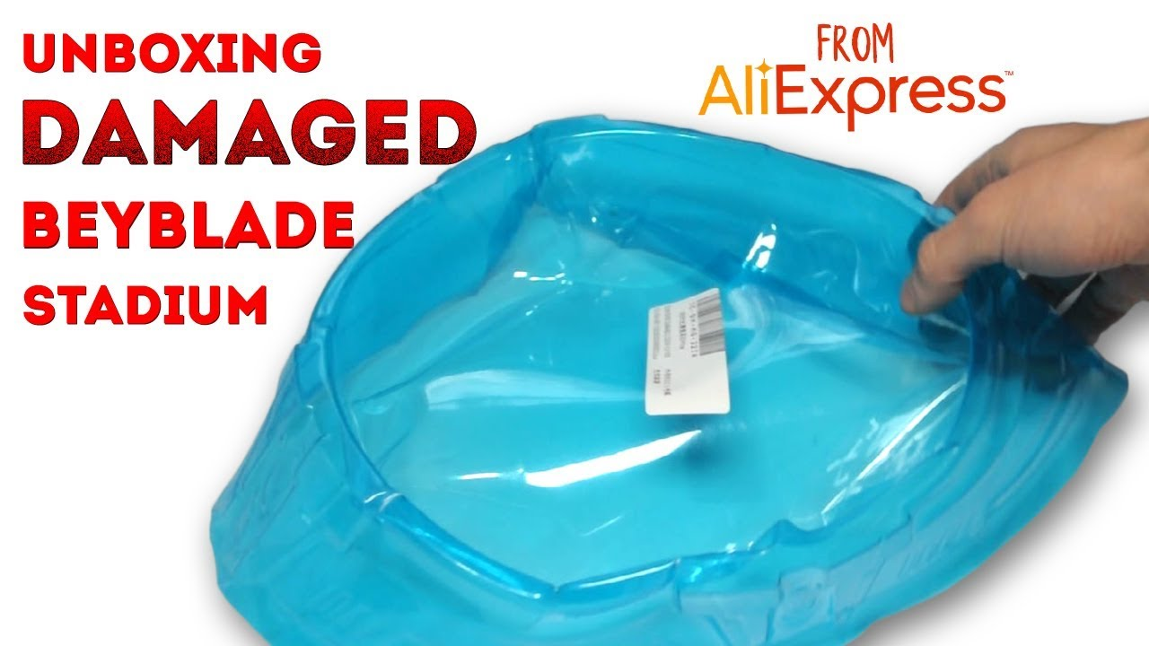 Damaged Beyblade Stadium From Aliexpress Unboxing & Review + Beyblade Battle