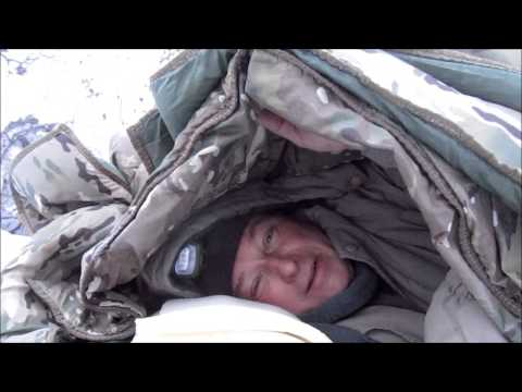 Sub Zero Camp With Our Blankets No Fire No Tent