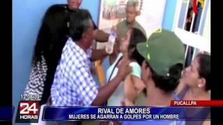 Mujeres se agarran a golpes por el amor de un hombre en Pucallpa