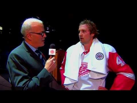 Darren Helm interview - HNIC Detroit Redwings vs Edmonton Oilers