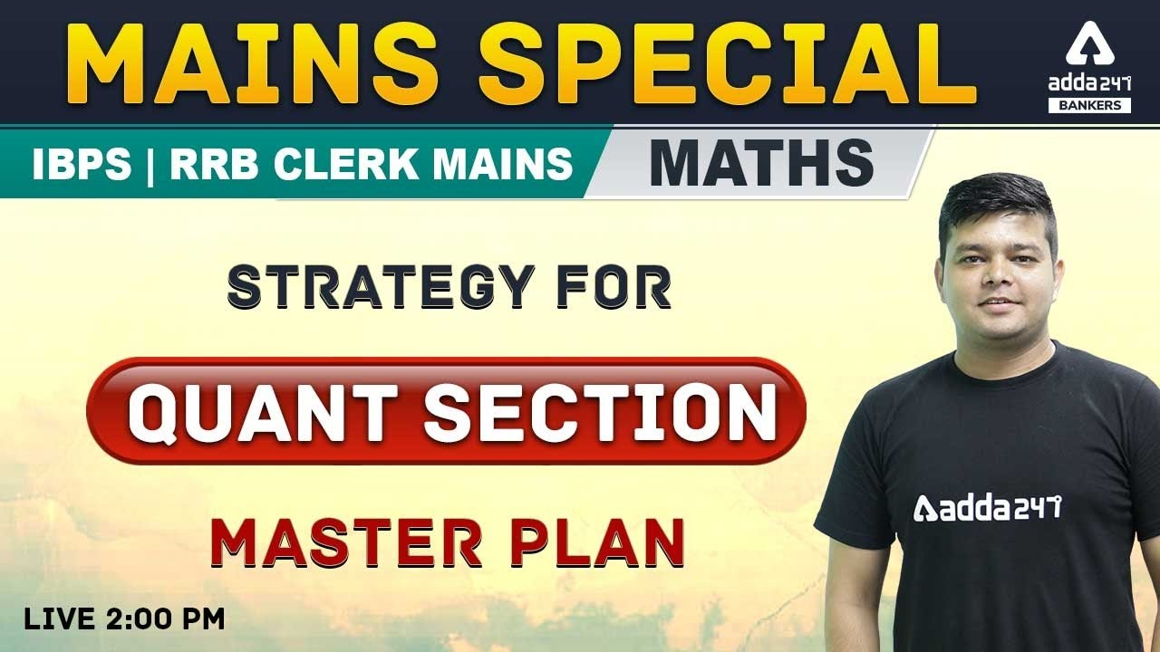 IBPS RRB CLERK MAINS STRATEGY FOR QUANT SECTION | Adda247