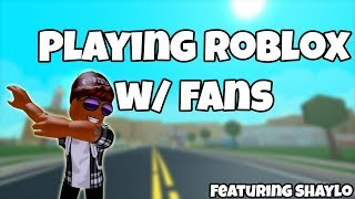 PLAYING ROBLOX AGAIN WITH FANS!!!!!!