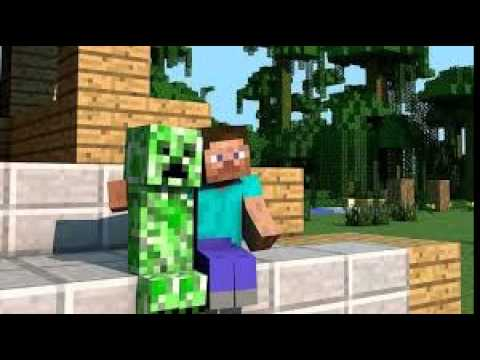 minecraft steve and creeper in love how it began youtube