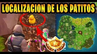 LOCALIZACIÓN DE LOS 10 PATITOS DE GOMA DESAFIO SEMANA 3 FORTNITE BATTLE ROYALE
