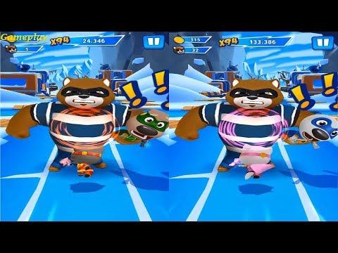 Talking Tom Hero Dash - New Update 2019 Teamwork Superpower SUPER Angela  VS  SUPER TOM Gameplay