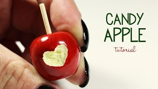 polymer clay Candy Apple TUTORIAL
