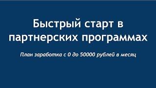 Как зарабатывать на партнерских программах от 50000 рублей. Пошаговый план заработка на партнерках.