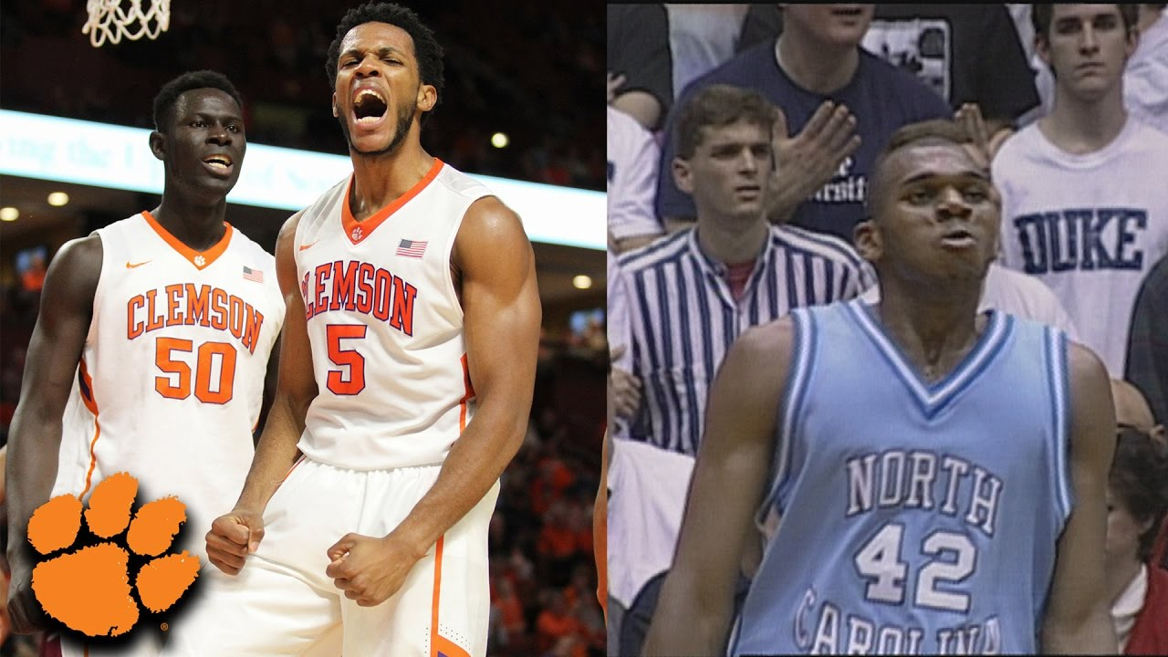 Jerry Stackhouse Dunk Replicated In Game By Clemson s Jaron