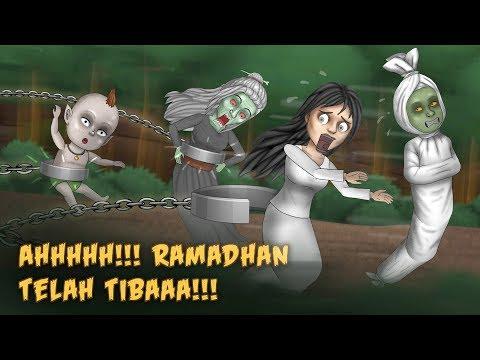 Ketika Hantu Dibelenggu Di Bulan Ramadhan   Kartun Lucu