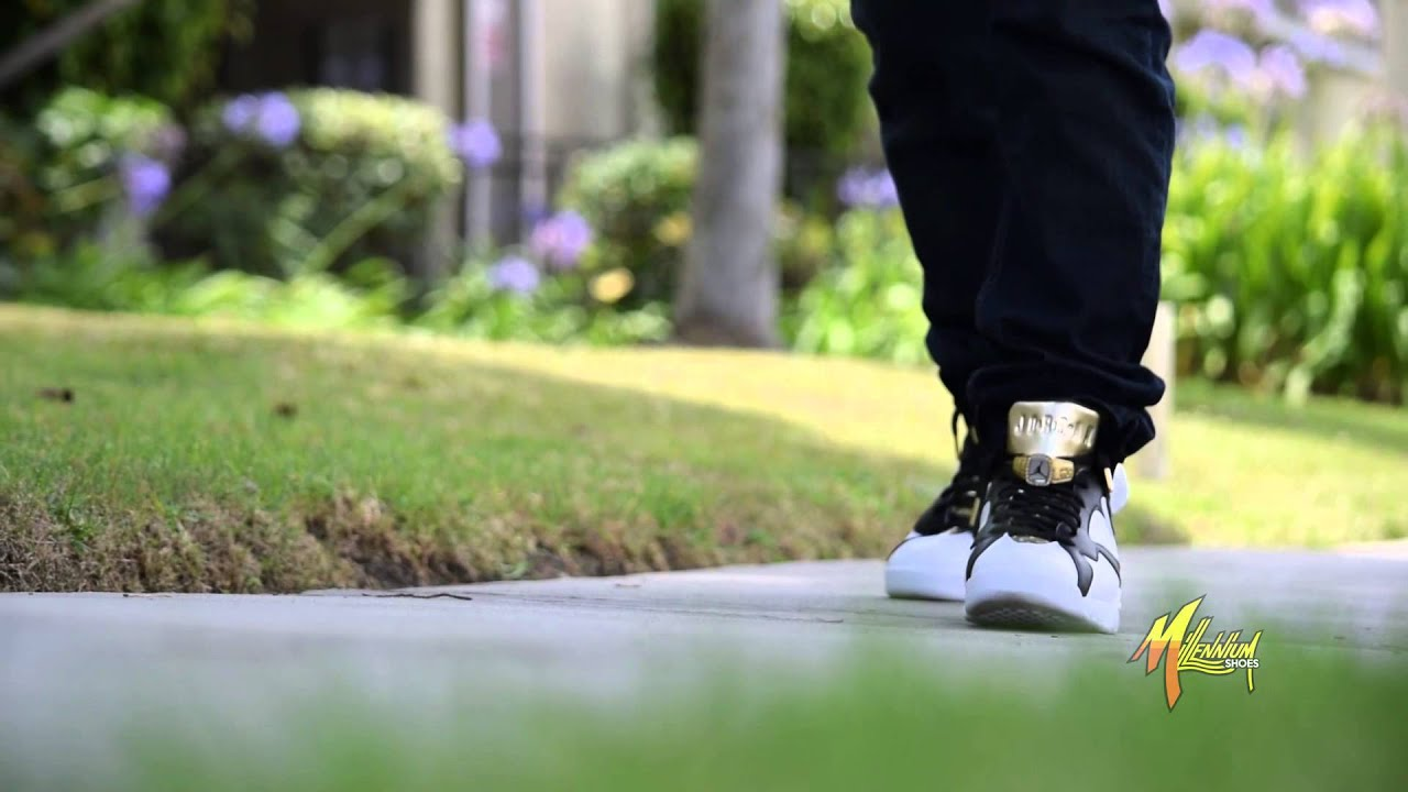 the best attitude 682b4 5d1c4 Air Jordan 7 Retro C C Championship Pack - Cigar and Champagne On Foot  Spotlight