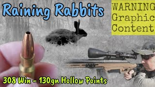 Raining Rabbits - Pest Control & ATV Hunting - Thermal Shooting with a 308 Win
