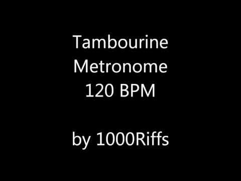 Tambourine Metronome 120 BPM - Beats Per Minute