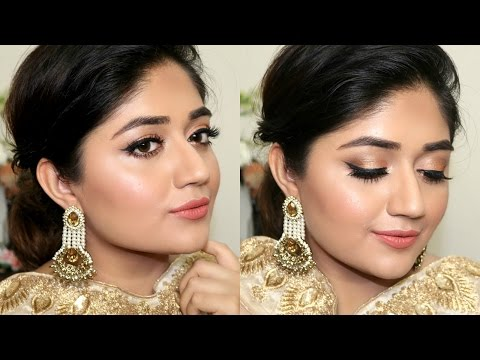 Indian Festive Makeup Tutorial : Golden Peach Makeup | corallista
