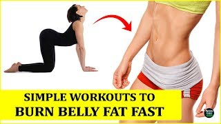 5 Simple Workouts That Burn Belly Fat Like Crazy | How To Lose Belly Fat