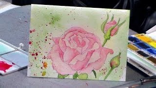 How to Draw and Paint a Rose in Watercolor {redo!}