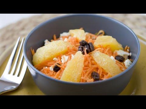 How to Make a Grated Carrot Orange Raisins Feta Salad A great healthy salad!