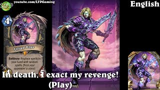 Hearthstone: Lilian Voss card sounds in 14 languages -Knights of the Frozen Throne