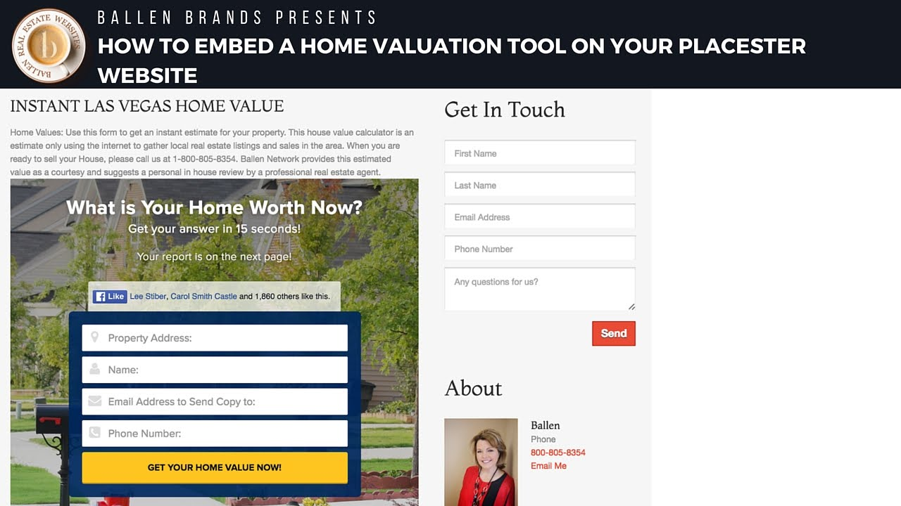 how to add a home value tool to your real estate website youtube