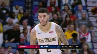 Lonzo Ball Sets New Career-High For Threes in a Quarter With Four Threes Vs. Rockets