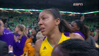 Candace parker dedicates her 2016 finals victory to the great pat summitt!