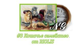 """Кошачье семейство от RIOLIS. СП """"В мире животных"""". Отчет №3. Вышивка крестом."""