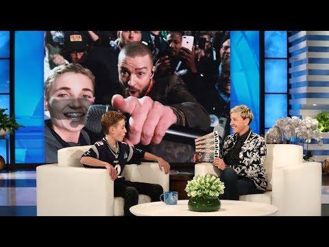 Cover Lagu Justin Timberlake Surprises Super Bowl Selfie Kid Ryan McKenna STAFABAND