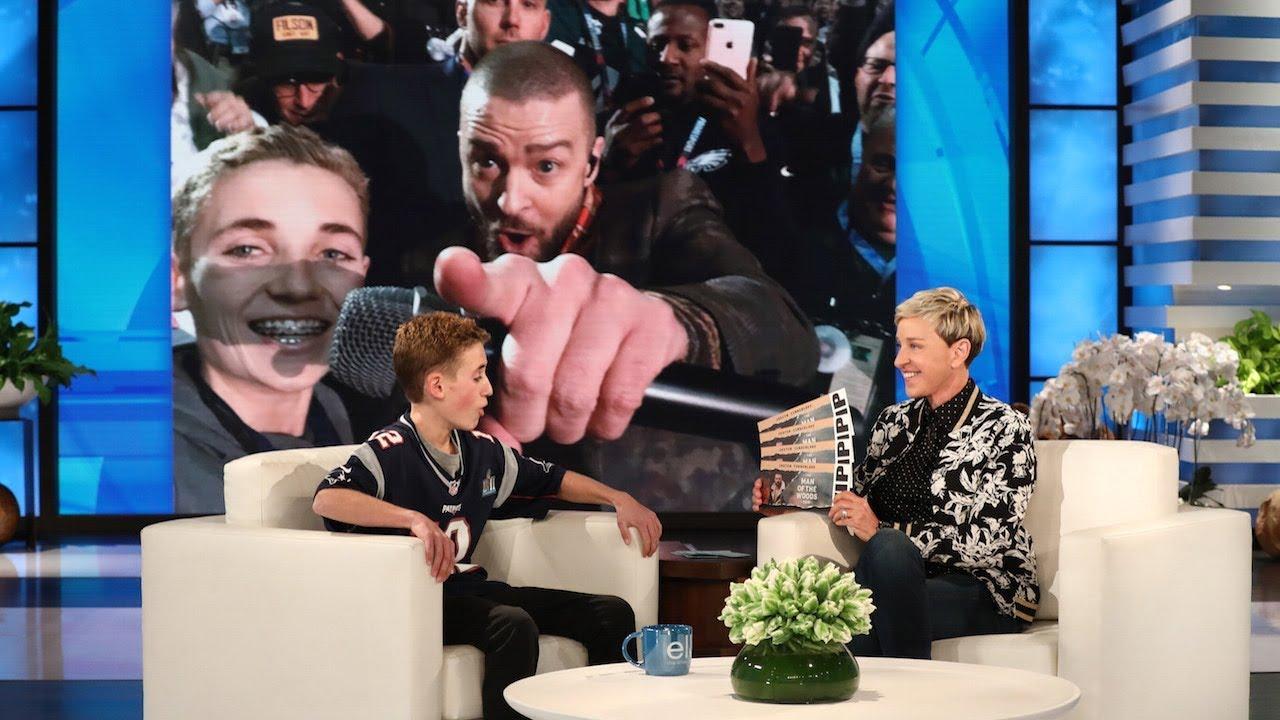Justin Timberlake reveals new baby boy's name to Ellen DeGeneres