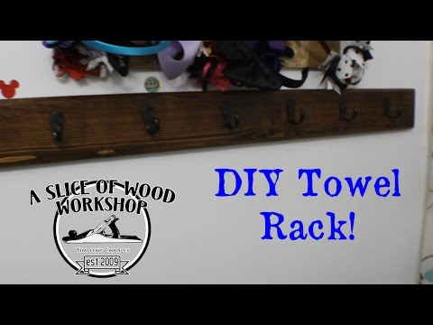 Easy DIY Towel Rack