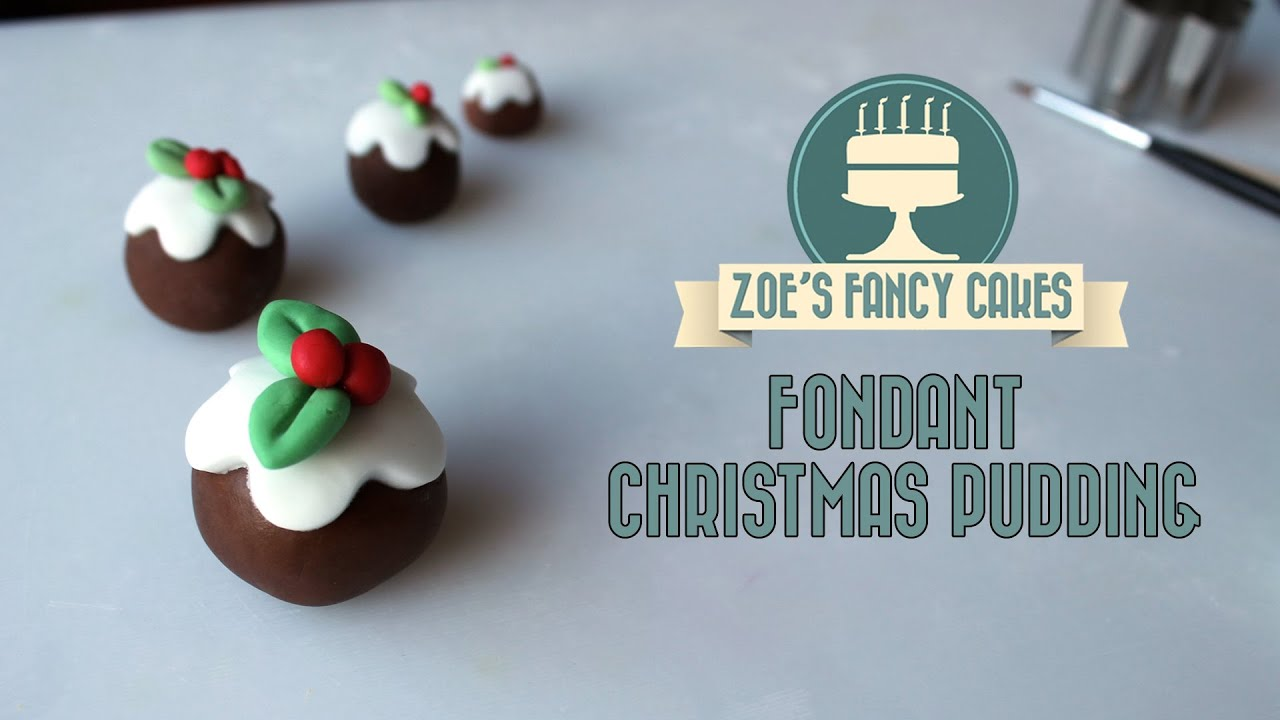 Fondant Christmas puddings Christmas cake topper How to ...