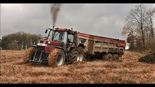 BIG CASE IH 1455 IN MUD !! TRACTEUR FAIL/FIRE COMPILATION