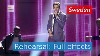 Robin Bengtsson - I Can't Go On - Sweden - Rehearsal (Full Effects) - Eurovision Song Contest 2017