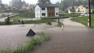 Starkregen setzt Vogtland unter Wasser