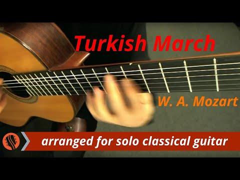 W A Mozart  Rondo alla Turca Turkish March, solo classical guitar