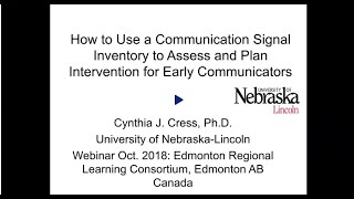 How to use communication signal inventory to...