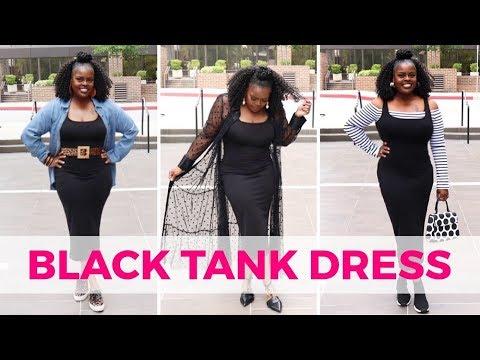TEN WAYS TO WEAR A BLACK TANK DRESS (LOOKBOOK)