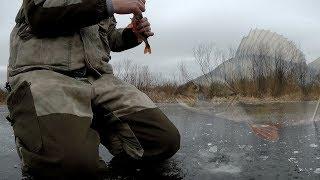 Первый лед в 2020 Ловим окуня и щук Рыбалка в Феврале