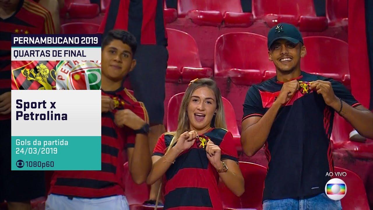 Globo HD⁶⁰ | Gols de Sport 4 x 0 Petrolina pelas Quartas de Final do Pernambucano 2019