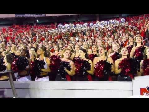 Georgia Redcoat Band after win over LSU with Aaron Murray