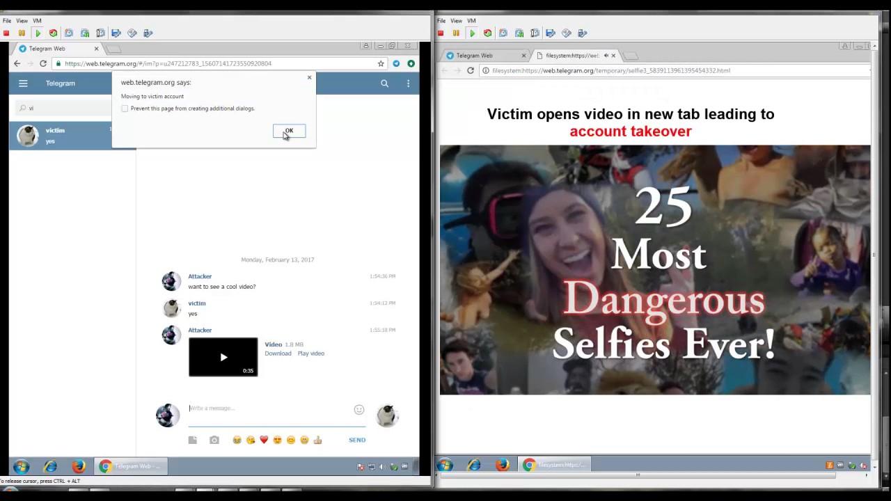 Demo of Telegram Web Account Takeover | Hack Demonstration