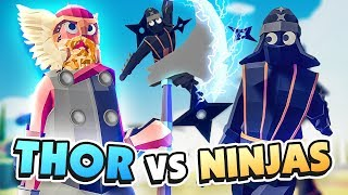 THOR UNIT vs NINJA SQUAD - TABS Early Access Release (Totally Accurate Battle Simulator)