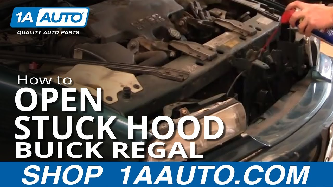 hight resolution of how to open stuck engine compartment hood buick regal pontiac grand prix