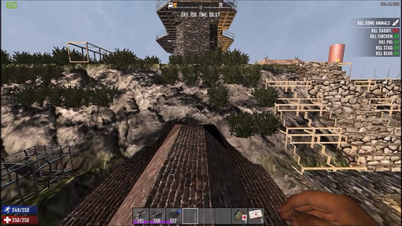 Ep 146 continuing the garden outer walls 7 days to die for Gardening 7 days to die