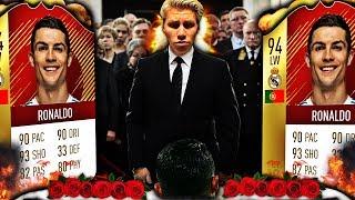 BEGRAVELSEN TIL DEN BESTE SPILLEREN PÅ FIFA 18... ⚰️🌹 FARVEL CRISTIANO RONALDO...