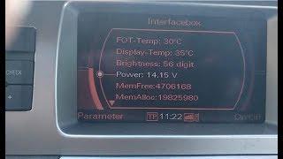 #085(1) kuchlanish-zaryad MMI Audi bo'yicha A6,Q7