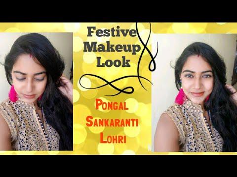 pongal makeup tutorial  easy makeup for beginners  lohri